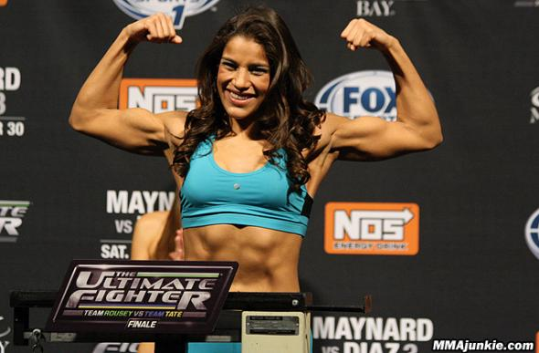 Julianna Pena at the TUF 18 Finale weigh-ins. Credit: ufc.com