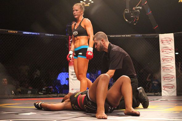Holly Holm is 6-0 as a professional since transitioning to MMA from boxing. Credit: sherdog.com