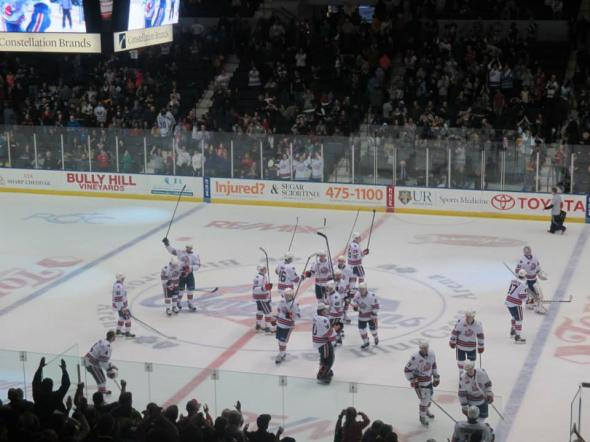 The Amerks picked up three of a possible four points this weekend. (Photo: Melissa Kania)