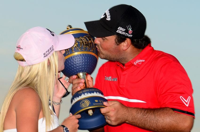 reed kiss the trophy after winning the wgc cadillac championship. Cars Review. Best American Auto & Cars Review