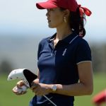 Michelle Wie. Mandatory Credit: Ron Chenoy-USA TODAY Sports