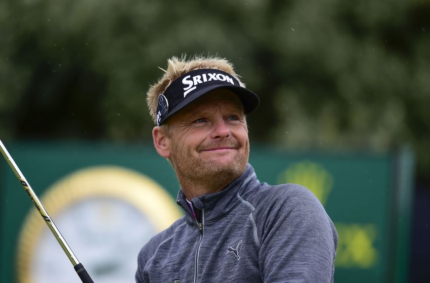 Jul 16, 2016; Ayrshire, SCT; Soren Kjeldsen (Den) during the third round of the 145th Open Championship golf tournament at Royal Troon Golf Club - Old Course. Mandatory Credit: Thomas J. Russo-USA TODAY Sports