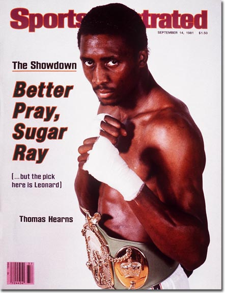 Thomas Hearns Boxer September 14, 1981 X 25453 credit: Carl Skalak - assign
