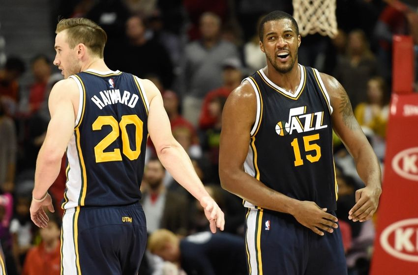 Utah Jazz Gordon Hayward Derrick Favors