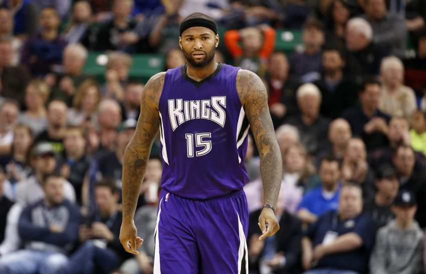 DeMarcus Cousins Sacramento Kings at Utah Jazz