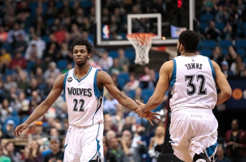 Andrew Wiggins Karl-Anthony Towns Minnesota Timberwolves