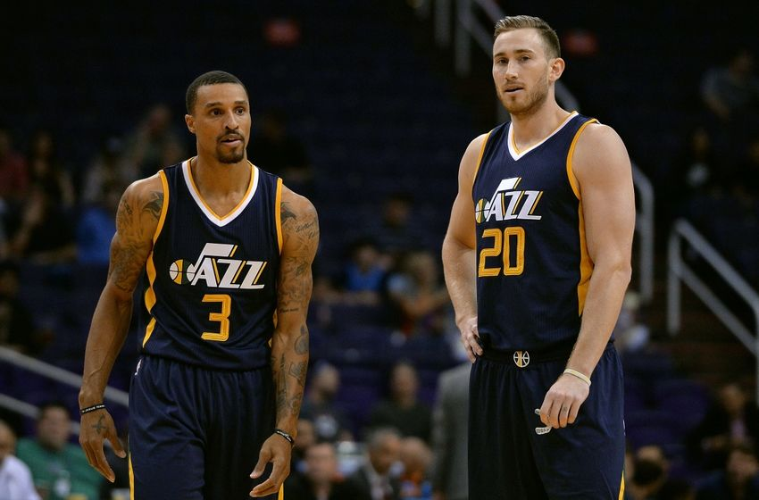 Utah Jazz Gordon Hayward George Hill