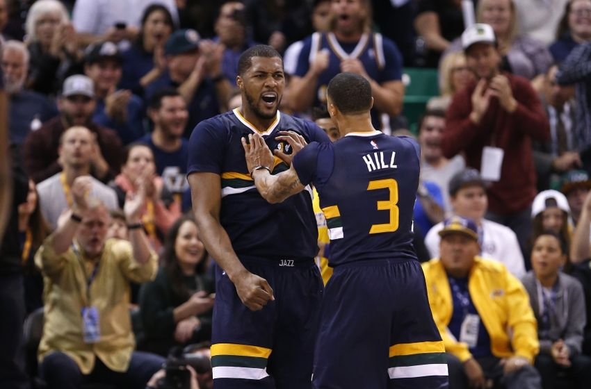 Utah Jazz George Hill Derrick Favors
