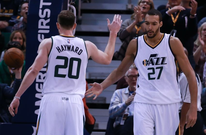 Utah Jazz Gordon Hayward Rudy Gobert