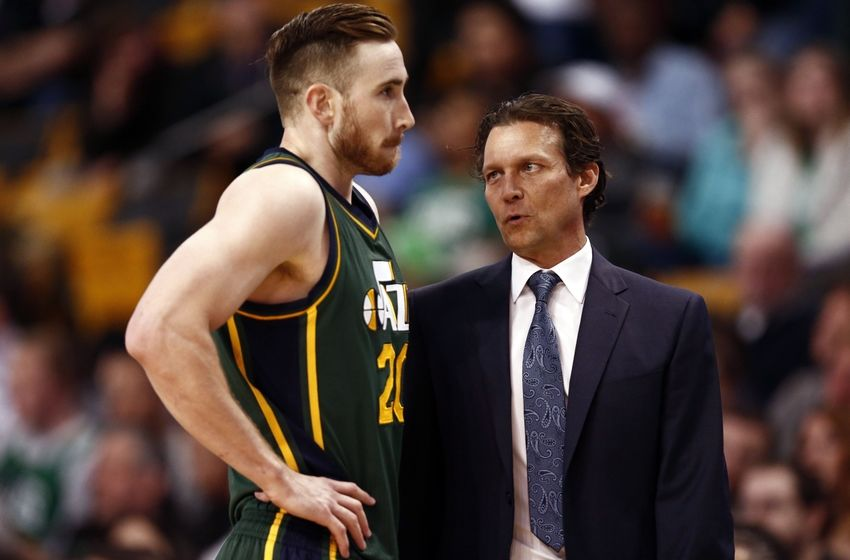 Utah Jazz Gordon Hayward Coach Quin Snyder