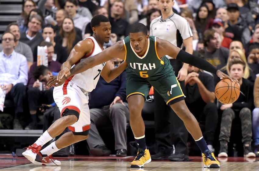 Utah Jazz Joe Johnson Kyle Lowry Toronto Raptors