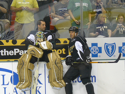 "Modano tries to explain, ""Marty, I still have it somewhat. You on the other hand do not."""