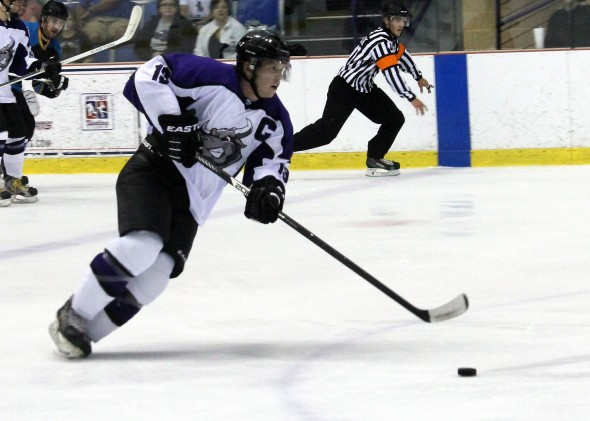 Photo Courtesy of David Dudich - Lone Star Brahmas Captain AJ Duggan leads the team in scoring with 3G - 4A in six games played this season.
