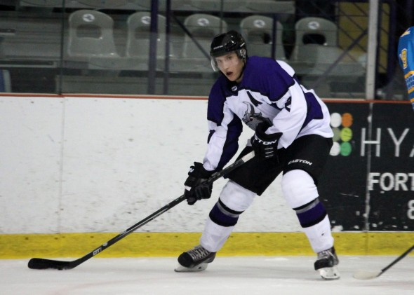 Photo Courtesy of David Dudich: Matt Lison had the Brahmas' first goal on the night but Lone Star lost the contest 5 - 2.