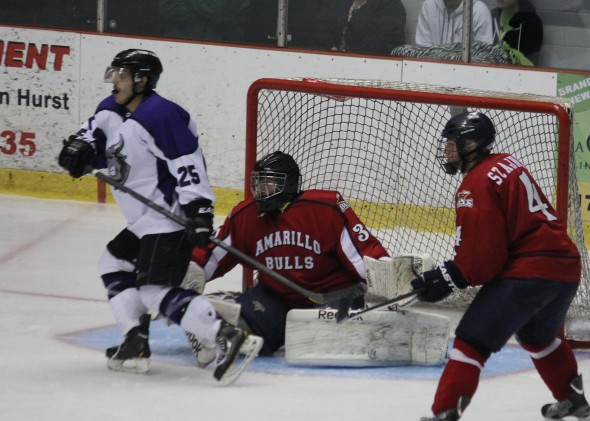 Photo Courtesy of David Dudich: The Lone Star Brahmas swept the League leading Amarillo Bulls on Saturday night with a 4 - 0 shutout win.