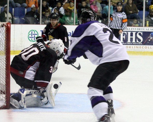 Photo Courtesy of David Dudich: David Zevnik and the Wildcats were too much for the Brahmas once again in Wichita Falls getting the 7 - 2 win.