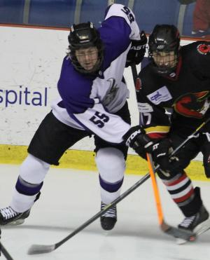 Photo Courtesy of David Dudich: Brahmas' rookie defenseman Johan Steen scored his first NAHL Goal tonight against the Amarillo Bulls in a 2 - 0 Lone Star win.