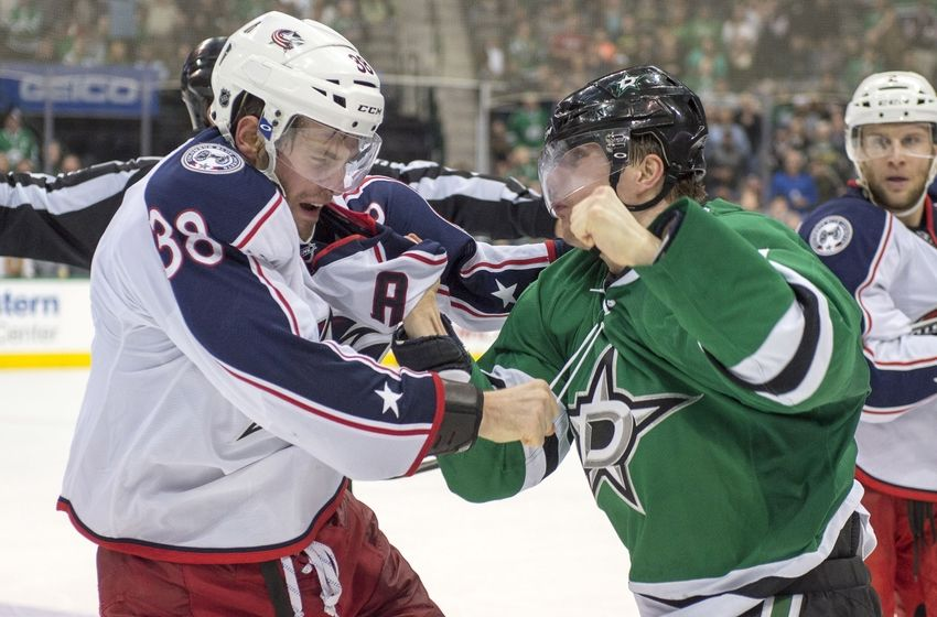 Dallas stars take on columbus blue jackets at home for Interieur sport antoine roussel