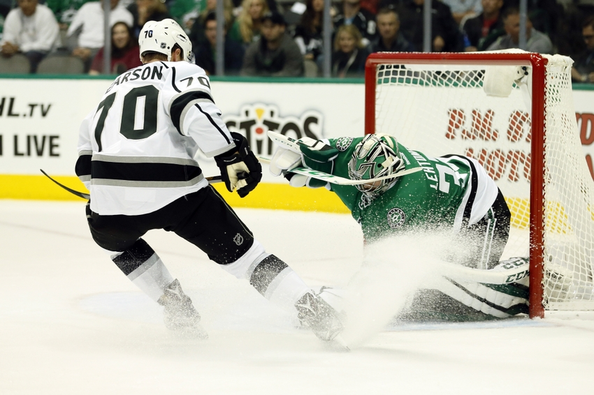 9621722-kari-lehtonen-tanner-pearson-nhl-los-angeles-kings-dallas-stars
