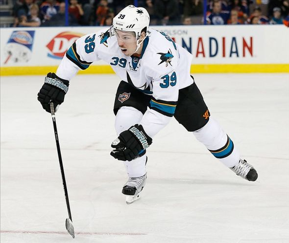 San Jose Sharks forward Logan Couture (39). Mandatory Credit: Perry Nelson-USA TODAY Sports