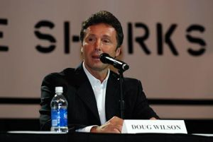 San Jose Sharks GM Doug Wilson. Mandatory Credit: San Jose Sharks