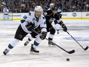Patrick Marleau, played center for the Sharks to begin his career but was shifted to wing later to fit the teams plans after they had an abundance of centers in 2004 and 2006.