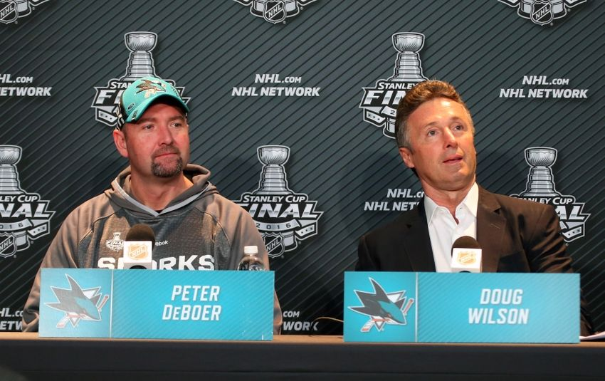 Peter-deboer-doug-wilson-nhl-stanley-cup-final-media-day-2-850x535