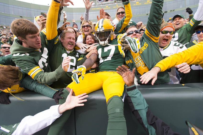 Oct 19, 2014; Green Bay, WI, USA; Green Bay Packers wide receiver <a rel=