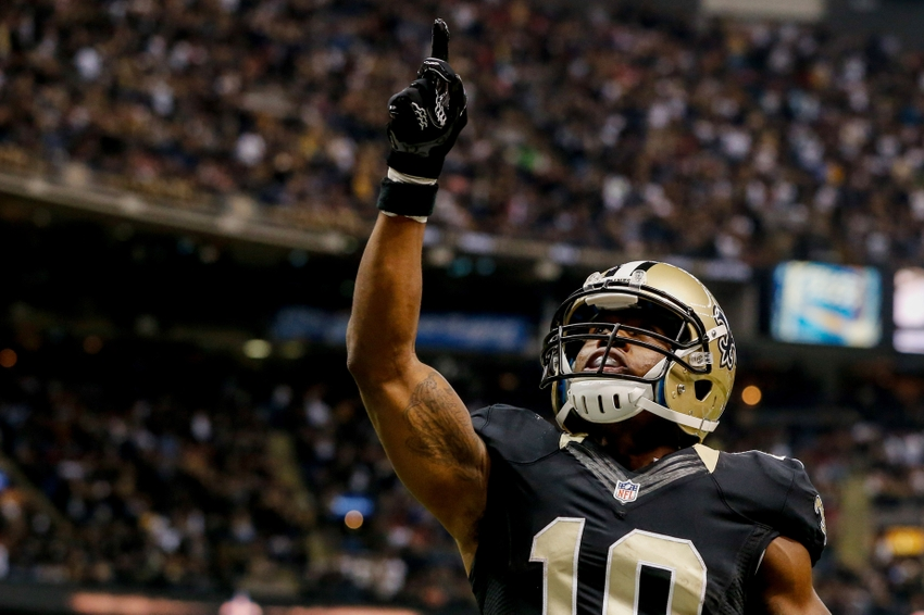 Nov 9, 2014; New Orleans, LA, USA; New Orleans Saints wide receiver <a rel=