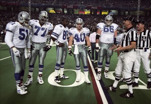 Bates as a Captain for Super Bowl XXVIII