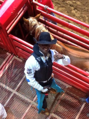 Cowboy Orlando at Ft. Worth Stockyard Rodeo