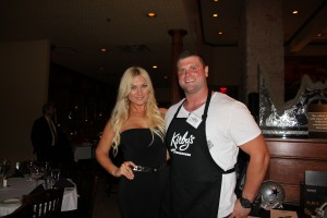 Phil Costa and fiancee´ Brooke Hogan appear at DeMarco Murray's Celebrity Waiter Night -- Jordan Ross