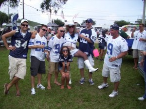 Dallas Cowboys Fans in during my tailgate in Tampa Bay, FL - Photo by GameDayDog