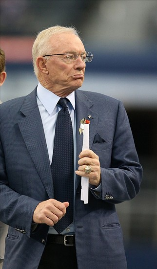 Nov 3, 2013; Arlington, TX, USA; Dallas Cowboys owner Jerry Jones prior to the game against the Minnesota Vikings at AT