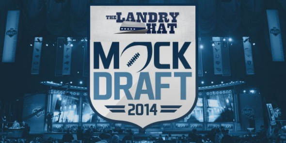 LANDRY HAT MOCK DRAFT LOGO