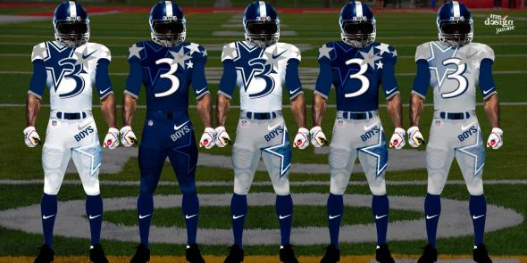 An unofficial redesigned Dallas Cowboys uniforms by Mr. Design Junkie. All Rights Reserved Mr. Design Junkie