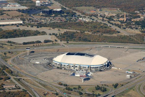 11/02/08 - An aerial shot of the Texas Stadium in Irving, Texas.