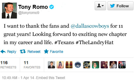 ROMO Tweet APR1