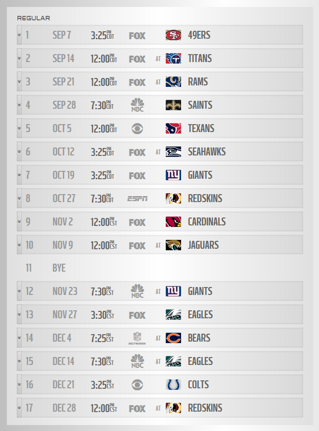 dallas cowboys schedule 2014 - photo #2