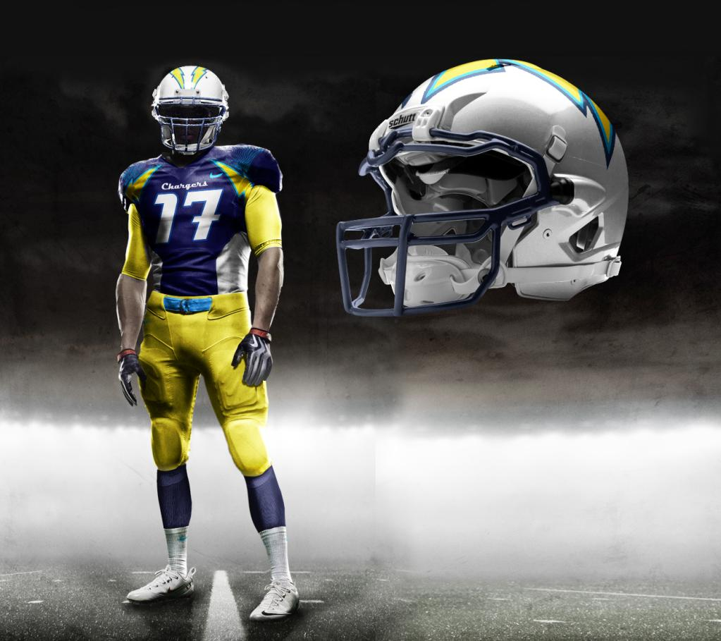 San Diego Chargers Colors: Rumor: Nike 2012 ''Pro-Combat'' Chargers Uniform
