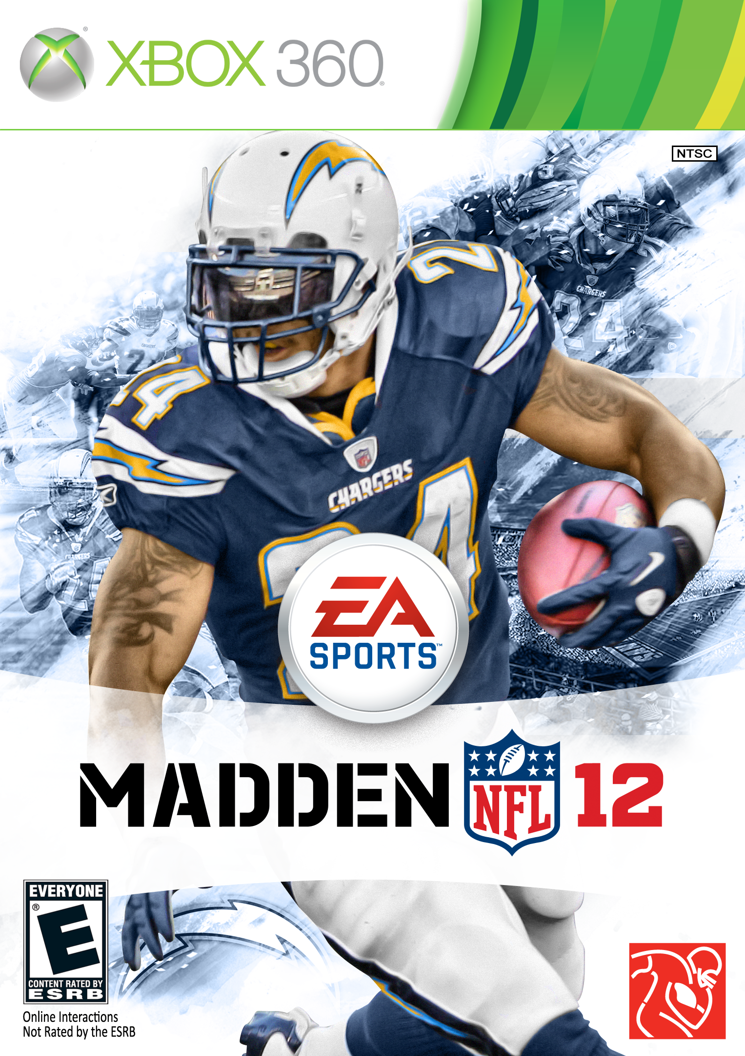 Madden 12 Chargers Custom Cover