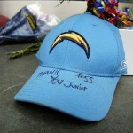 May 2, 2012; San Diego, CA, USA; A detailed view of a hat left at the impromptu memorial in front of Seau