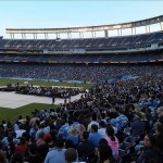 May 11, 2012; San Diego, CA, USA; General view of the Celebration of Life for Junior Seau at Qualcomm Stadium. Mandatory Credit: Kirby Lee/Image of Sport-US PRESSWIRE