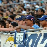 May 10, 2012; San Diego, CA, USA; San Diego Chargers fans react at the Celebration of Life for Junior Seau at Qualcomm Stadium. Mandatory Credit: Kirby Lee/Image of Sport-US PRESSWIRE