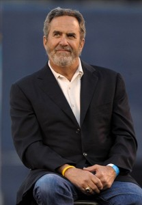 May 10, 2012; San Diego, CA, USA; Dan Fouts at the Celebration of Life for Junior Seau at Qualcomm Stadium. Mandatory Credit: Kirby Lee/Image of Sport-US PRESSWIRE