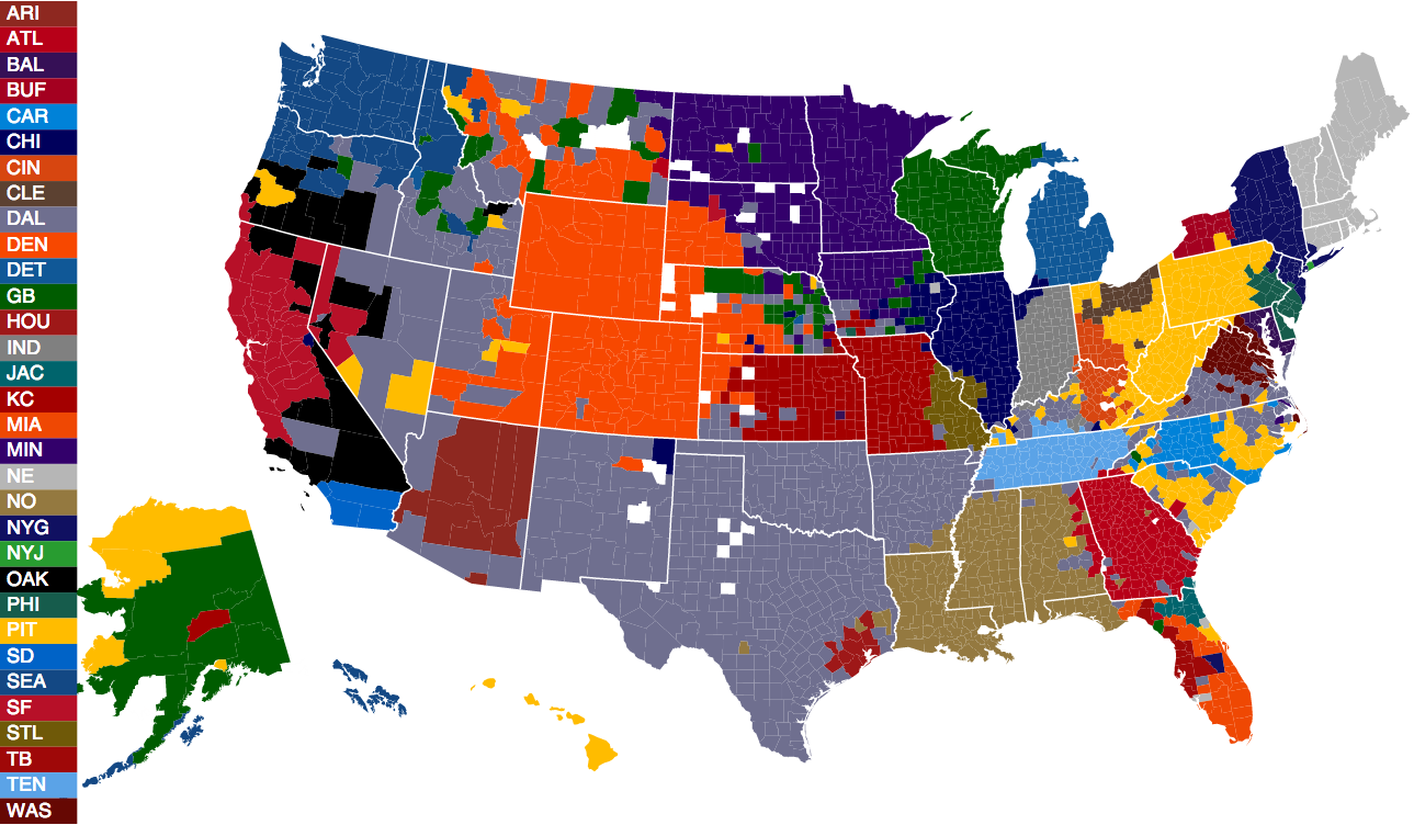 The Facebook Nfl Fandom Map