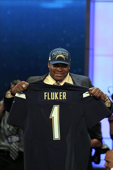 Apr 25, 2013; New York, NY, USA; Offensive tackle D.J. Fluker (Alabama) is introduced as the eleventh overall pick of the 2013 NFL Draft by the San Diego Chargers at Radio City Music Hall. Mandatory Credit: Brad Penner-USA TODAY Sports