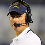Sep 9, 2013; San Diego, CA, USA; San Diego Chargers head coach Mike McCoy during the first half against the Houston Texans at Qualcomm Stadium. Mandatory Credit: Christopher Hanewinckel-USA TODAY Sports