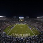 Sep 9, 2013; San Diego, CA, USA; General view of Qualcomm Stadium during the NFL football game between the Houston Texans and San Diego Chargers. Mandatory Credit: Kirby Lee-USA TODAY Sports
