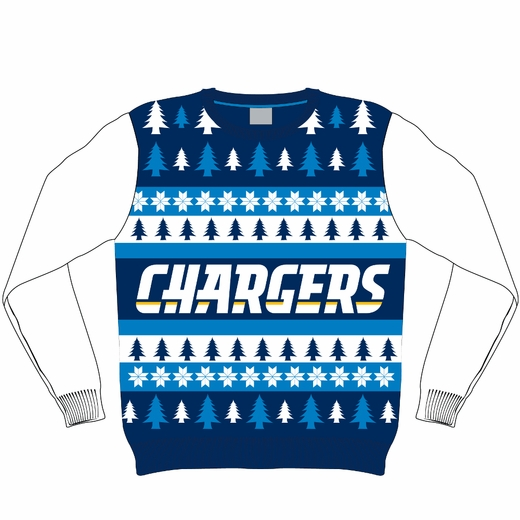 Chargers Ugly Christmas Sweaters - via ClarkToys.com